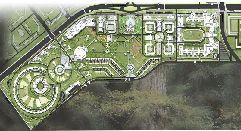 Эскиз застройки территории Челябинского государственного университета