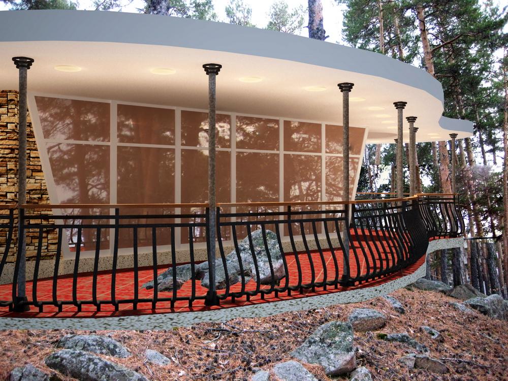 Павильон для отдыха в пансионате «Гранит», оз. Кисегач, город Чебаркуль, Челябинская область
