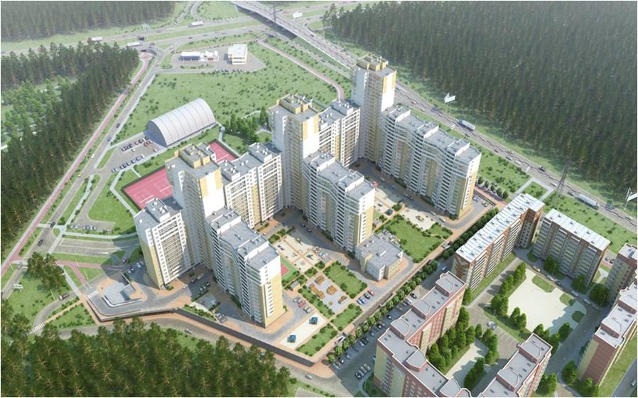 Застройка жилого микрорайона г. Челябинска
